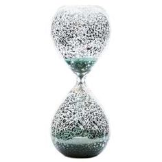 Clear Mercury Glass Hourglass with Colored Sand
