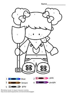 Coloring pages: Farm Color By Numbers Coloring Pages. Children love to color. Coloring by numbers is a fun way for students to learn number and color words recognition. These Farm Color By Number Coloring Pages will help the student develop eye-hand coordination, color concept and color word recognition.