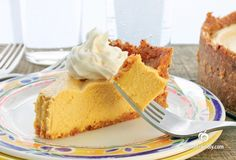 This week, I& bringing you another pumpkin treat, Vegan Pumpkin Cheesecake. With the fast approaching Holidays, I like to create easy desserts that leave plenty of time for fun and festivities. Vegan Treats, Vegan Foods, Vegan Dishes, Paleo Diet, No Bake Pumpkin Cheesecake, Vegan Cheesecake, Pumkin Pie, Vegan Pumpkin, Baked Pumpkin