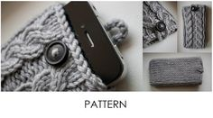 cable knit cell phone case pattern