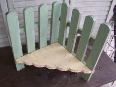 Shabby garden shelf now in the Memory Furniture Primitive, Farm, Industrial booth... great for plant display.