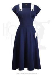 50s 'Doris' Day Dress - Navy
