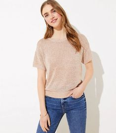 Shop LOFT for stylish women's clothing. You'll love our irresistible Shimmer Dolman Sweater Tee - shop LOFT.com today!