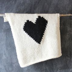 Knitted Heart Baby or Lap/Throw Blanket by YarningMade on Etsy, $60.00