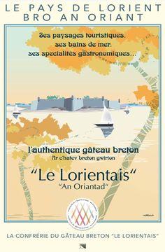 """affiche de la confrérie du gâteau breton """" Le lorientais"""" crée par Ollivier Fouchard"""
