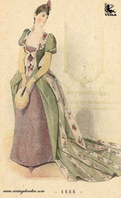 1888 Fashion Plates, Magazines, Women's Fashion, Art, Journals, Art Background, Fashion Illustrations, Fashion Women, Kunst