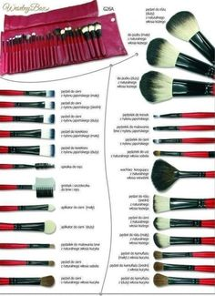 EmaxDesign Makeup Brushes Pieces Makeup Brush Set, 10 Pieces Professional Foundation Blending Blush Eye Face Liquid Powder Cream Cosmetics Brushes & 1 Piece Black Beauty Sponge Blender With Bag - Cute Makeup Guide Makeup Brush Storage, Makeup Brush Cleaner, Makeup Brush Holders, Makeup Brush Set, Makeup Guide, Makeup Tools, Skin Makeup, Beauty Makeup, Dark Makeup