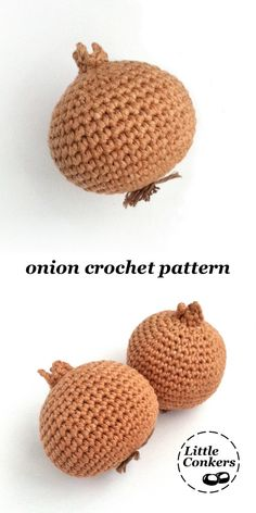 Crochet Onion Pattern / Crochet Vegetable Pattern / Crochet Food Pattern Onion crochet pattern by - Easy crochet pattern for a realistic onion. One of a range of matching crochet patterns. Crochet Patterns For Beginners, Easy Crochet Patterns, Crochet Patterns Amigurumi, Knitting Patterns, Knitting Tutorials, Loom Knitting, Free Knitting, Stitch Patterns, Crochet Fruit
