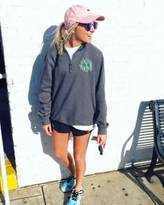 monogrammed preppy quarter zip