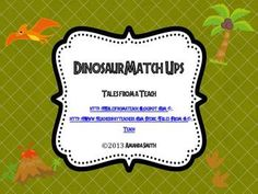 Dinosaur Match Ups: Dinosaur Themed Cards