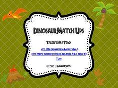 Dinosaur Match Ups: Dinosaur Themed Cards