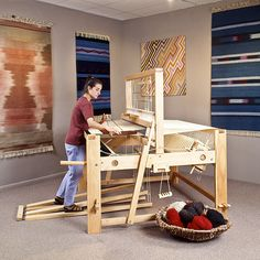Rachel Brown: designer | Rio Grande walking loom: Cadillac | counterbalance | maple, mortise & tenon | 4-shaft, 4-treadle