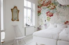 Inside an Airy and Feminine Scandinavian Apartment via @mydomaine