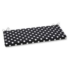 Polka Dot Black Loveseat Cushions