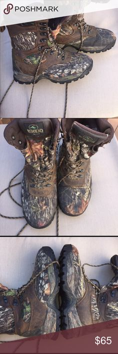 RED HEAD Pre-owned Red Head  Camo Bone Dry Water Proof Hunting Boots. Size 8.5M in  good condition REDHEAD Shoes Boots