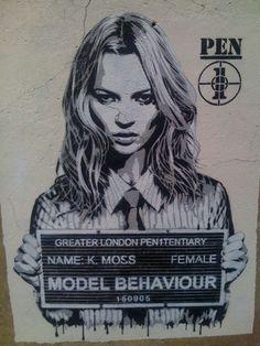 KM graffiti art. Model behaviour.
