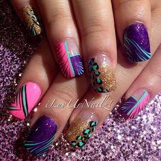 Instagram photo by  iluvurnailz  #nail #nails #nailart