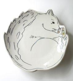 Squirrel Dessert Plate