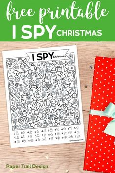 Free Printable I Spy Christmas Activity. Use this I Spy game for a classroom party, church Christmas party, or as a road trip boredom buster. activities Free Printable I Spy Christmas Activity - Paper Trail Design School Christmas Party, Christmas Party Games, School Holidays, Holiday Parties, Holiday Fun, Christmas Holidays, Christmas Design, Christmas Jesus, Coastal Christmas