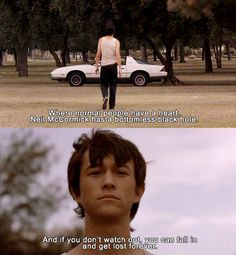 Mysterious Skin - 2004  I watched this today. Joseph Gordon Levitt plays a sexually abused, gay prostitute. It was good. CrazzZZZzy. But good.