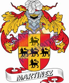 Martinez Family Crest <3 Family Shield, Family Crest, Crests, Used Books, Coat Of Arms, My Black, Knight, Genealogy, Badges