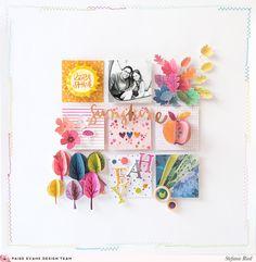 Best Of Truly Grateful Layout by Stefanie Ried (Paige Taylor Evans) Scrapbook Paper Art, Scrapbook Journal, Scrapbook Page Layouts, Diy Scrapbook, Scrapbook Pages, Scrapbook Designs, Project Life, Mini Albums, Friend Scrapbook
