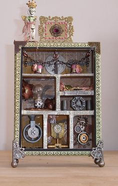 Steampunk Shadow Box Tim Holtz Inspired OOAK by Enchanted Revelries, $65.00 USD