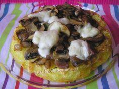 galettes de pommes de terre et sa poêlée de champignons