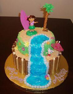 Dora luau cake
