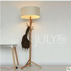 Nordic IKEA designer paragraph Creative Creative Solid wood tree forest floor lamp floor lamp $280.00