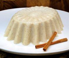 Coquito Jello, Coconut milk, condensed milk, vanilla, cinnamon, nutmeg, allspice & rum