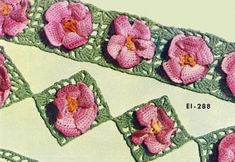 Apple Blossom Edging & Insertion crochet pattern from Floral Insertions and Floral Edgings, Clark's O.N.T. J Coats, Book No. 263, in 1949.