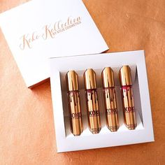 @kyliecosmetics: THE KOKO KOLLECTION. The first Kylie Cosmetics kollaboration. Can't wait for everyone to experience this gorgeous range of lip products created by @khloekardashian. Coming to you next week NOVEMBER 9th at 3pm pst. #holidaysurprises