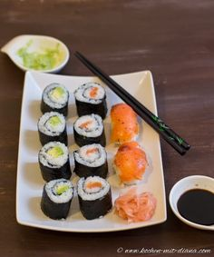 Kochen mit Diana/ Cooking with Diana: Selbstgemachtes Maki und Sushi/ Home made maki and sushi