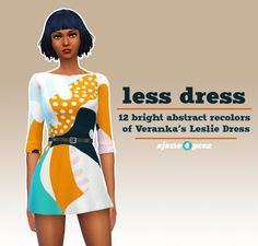 Veranka-s4cc's leslie dress recolors at 4 Prez Sims4 via Sims 4 Updates