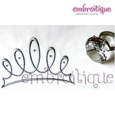 Wispy Tiara - 7 Sizes! | Princess | Machine Embroidery Designs | SWAKembroidery.com  Embroitique