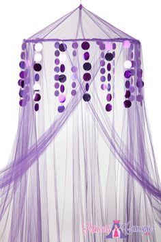 Mosquito Net Canopies, Choose your Colors, Metallic Beads, Purple Beads