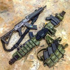 Bag full of guns Tactical Ak, Tactical Survival, Survival Gear, Tactical Beard, Tactical Equipment, Battle Belt, Battle Rifle, Weapons Guns, Guns And Ammo