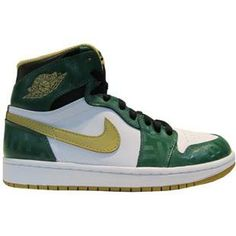 www.asneakers4u.com 555088 315 Air Jordan 1 Retro High Boston Garden OG Clover Metallic Gold White Black