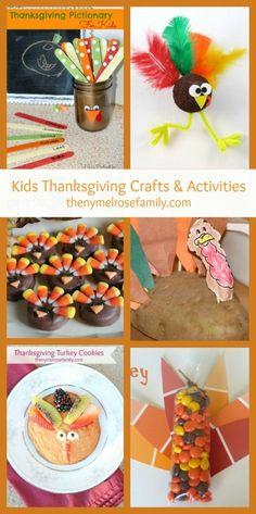 Kids Thanksgiving Crafts & Activities
