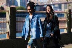 J'ai Perdu Ma Veste / Luka Sabbat and Adriana Mora – New York // Nyfw Street Style, Cool Street Fashion, Canadian Tuxedo, New York Fashion, Creative Inspiration, Fashion Beauty, Hip Hop, Rain Jacket, Windbreaker