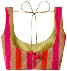 Tamanna Readymade Saree Blouse (151014/5/loktam_multi_large): Amazon.in: Clothing & Accessories New Saree Blouse Designs, Fancy Blouse Designs, Kurti Neck Designs, Kids Party Wear Dresses, Stylish Blouse Design, Designer Blouse Patterns, Clothing Accessories, Indian, Amazon