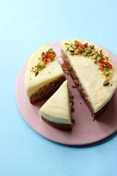 Pistachio Carrot Cake with Thick Cream Cheese Frosting