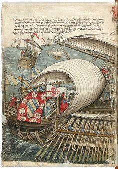 """""""Unser Galleiq"""" (detail) Konrad von Grünenberg - Beschreibung der Reise von Konstanz nach Jerusalem, um 1487"""