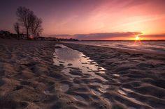 Zachód słońca w Rewie.