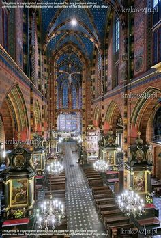 Basilica of the Assumption of Mary, Krakow, Poland, uncredited Church Architecture, Amazing Architecture, Beautiful Buildings, Beautiful Places, Places To Travel, Places To Visit, Assumption Of Mary, World Youth Day, Houses Of The Holy