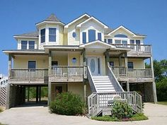 Oceanside OBX vacation home, located on the oceanside in Whalehead Beach, Corolla. 16' x 32' private pool and hot tub, ship's watch. TVs, DVD player, and WiFI. Rec room with ping pong table and full size refrigerator; ...
