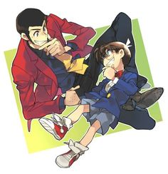 Lupin the Third and Detective Conan - two o my faves together :)