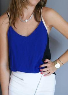 Kup mój przedmiot na #vintedpl http://www.vinted.pl/damska-odziez/koszulki-na-ramiaczkach-koszulki-bez-rekawow/9900074-nowy-top-na-ramiaczka-niebiesko-czarny