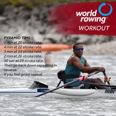 World Rowing Workout - Take a look at this great pyramid workout. Give it a try the next time you're on an indoor rowing - Row House Design, Pyramid Workout, Rowing Workout, Indoor Rowing, Rowing Machines, Feel Good, About Me Blog, How Are You Feeling, Feelings